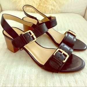 Talbots Mimi Double Strap Leather Sandals